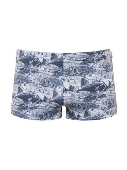 HOM Swim Shorts - Silversea Blauw