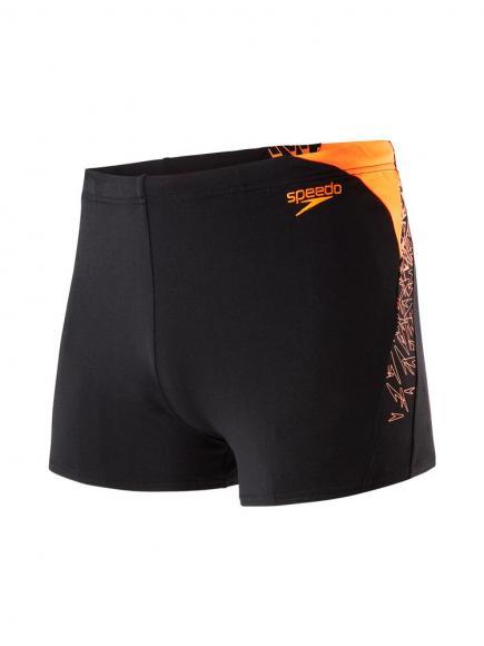 Speedo END Boom Splice Aquashort Zwart/Oranje