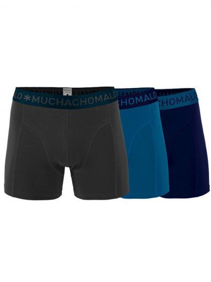 MuchachoMalo Boys 3-pack Short Blauw/Grijs