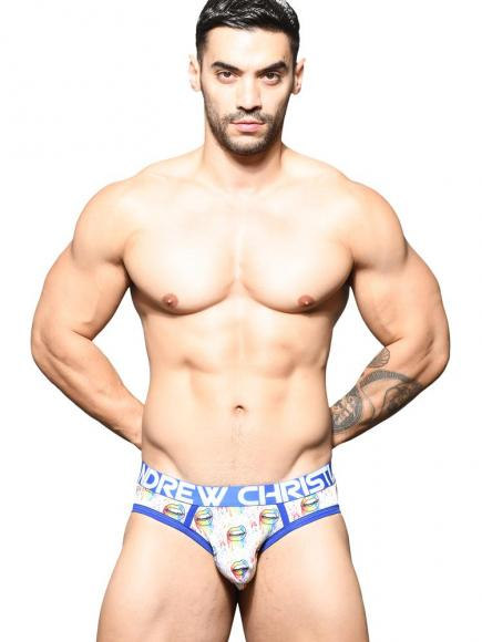 Andrew Christian Pride Lips Brief print