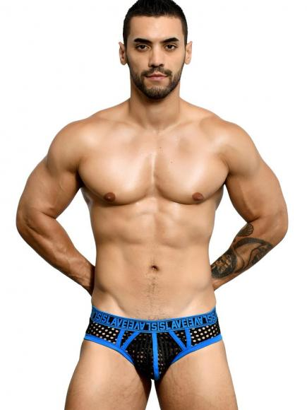 Andrew Christian Slave Brief /w Almost Naked Blauw/Zwart