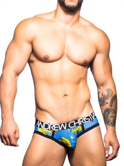 Andrew Christian Banana Mesh Brief banana print
