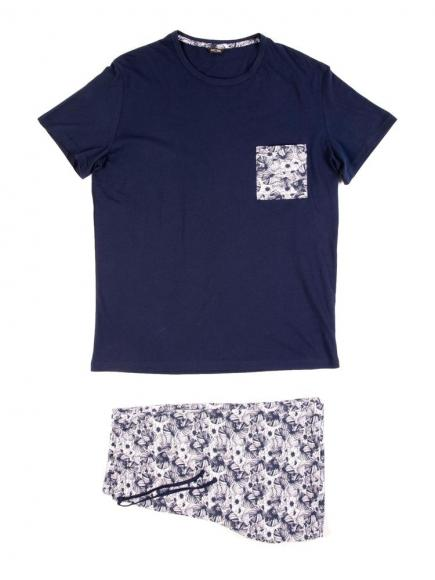 HOM Tropicano - Short Sleepwear Blauw