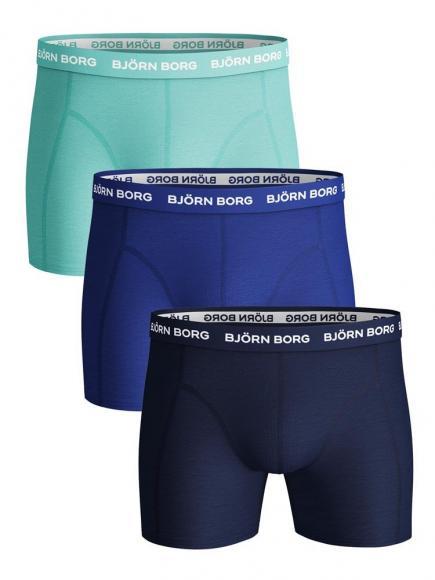 Björn Borg Ess. Cotton Shorts - 3 pack beach glass