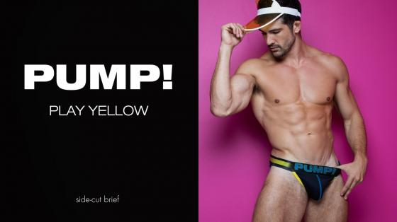 PUMP! PLAY Yellow SideCut Brief