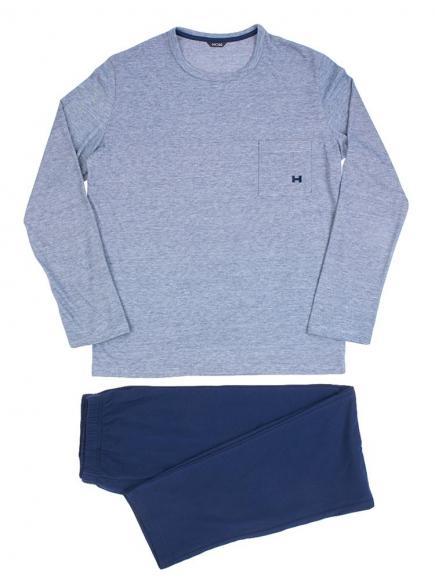 HOM Long Sleepwear - Comfort Blauw