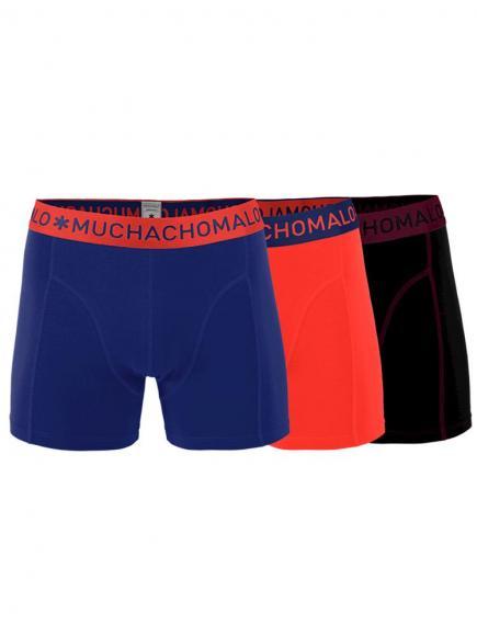 MuchachoMalo Boys 3-pack Short Blauw/Rood