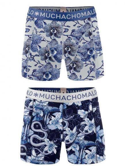 MuchachoMalo Boys 2-pack Short Blauw/Zwart