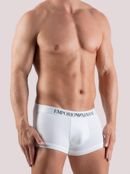 Emporio Armani Stretch Cotton Trunk Wit