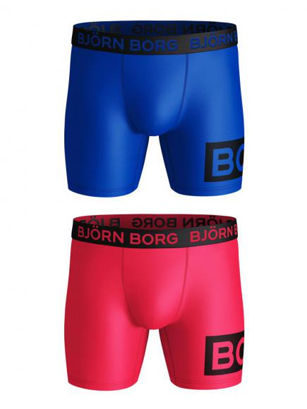 Bj�rn Borg Performance Short 2-pack Rood/Paars