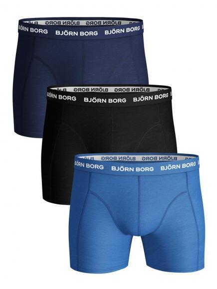 Bj�rn Borg Ess. Cotton Short 3-pack Blauw
