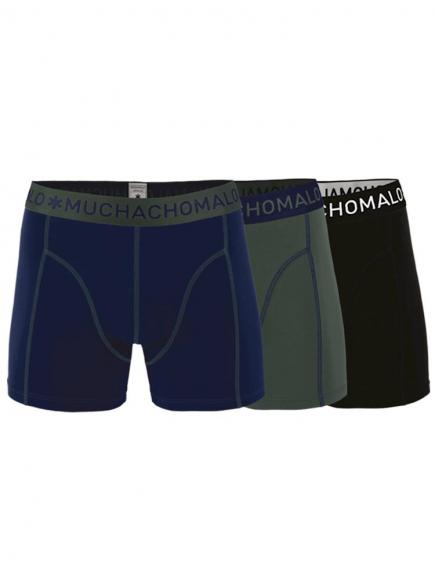 MuchachoMalo Boys 3-pack Short Blauw/Groen