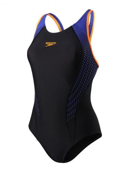 Speedo E10 Fit Laneback Zwart/Oranje