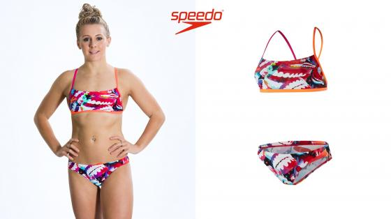 Speedo End Electric Gem 2 Piece Crossback