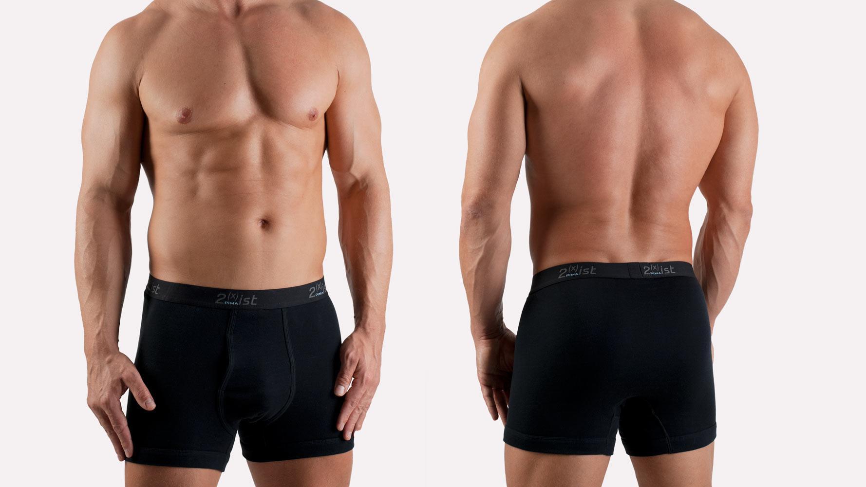 zwarte boxeshort van 2 x ist van pima katoen just underwear. Black Bedroom Furniture Sets. Home Design Ideas