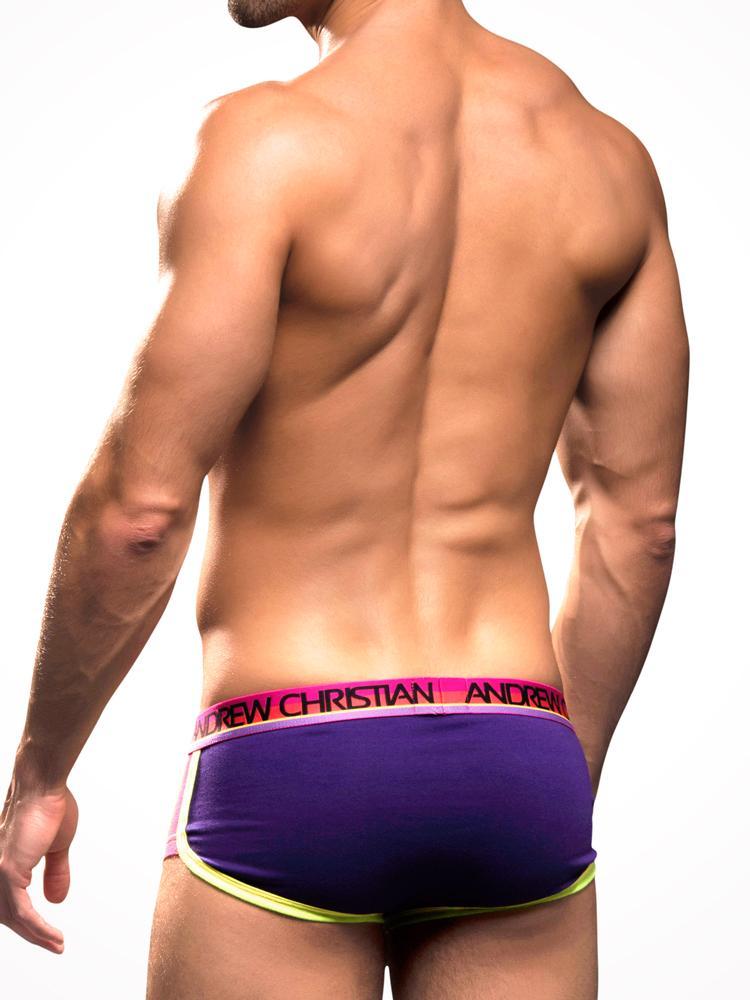 Andrew Christian Retropop Boxer W Show It Purple