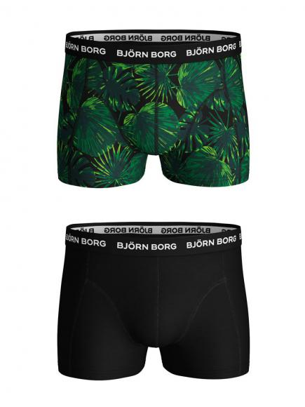 Bj�rn Borg Ess. Cotton Shorts 2-pack zwart beauty