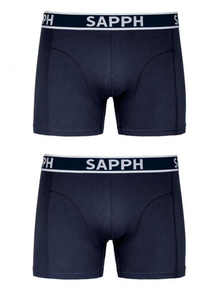 Sapph 2-pack Shorts Cotton Blauw