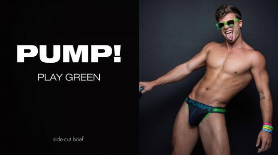 PUMP! PLAY Green SideCut Brief