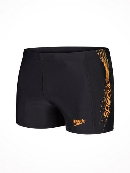 Speedo Sports Logo Aquashort Zwart-Oranje