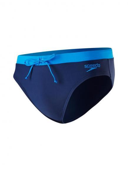 Speedo E10 Contrast 7cm Brief Blauw
