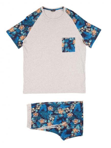 HOM Hibis - Short Sleepwear Grijs