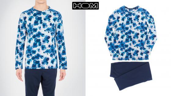 HOM Long Sleepwear - Aqua Flower