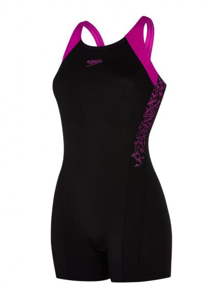 Speedo END Boom Splice Legsuit Zwart/Paars