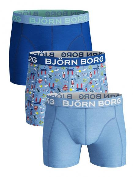 Bj�rn Borg Core Shorts - 3 pack Blauw