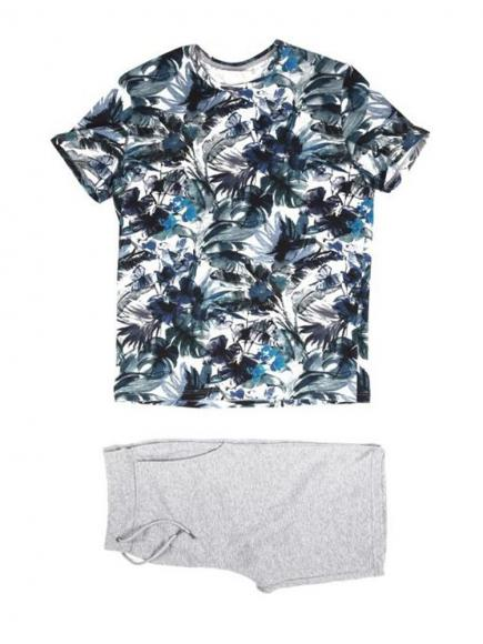 HOM Jungle Short Sleepwear Grijs