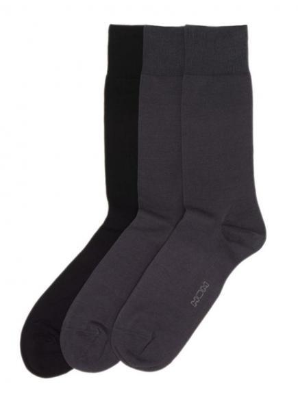 HOM Socks 3-pack (fil d'ecosse) Grijs