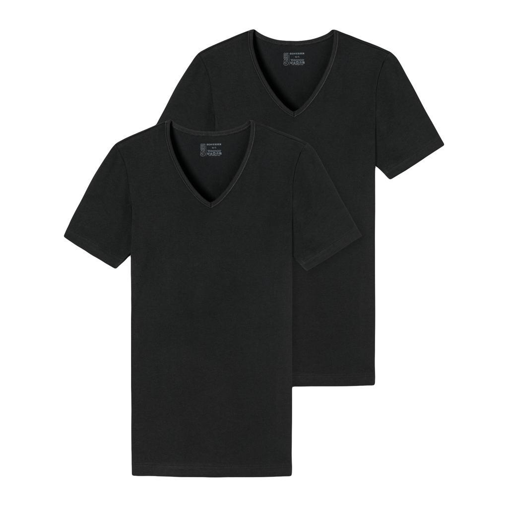 Schiesser 95-5 - T-shirt 1/2 V-neck - 2-pack