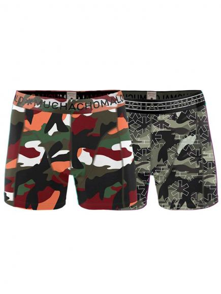 MuchachoMalo Boys 2-pack short Groen/Oranje