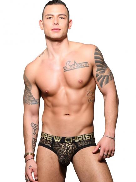 Andrew Christian Glam Animal Brief w/ Almost Naked Zwart