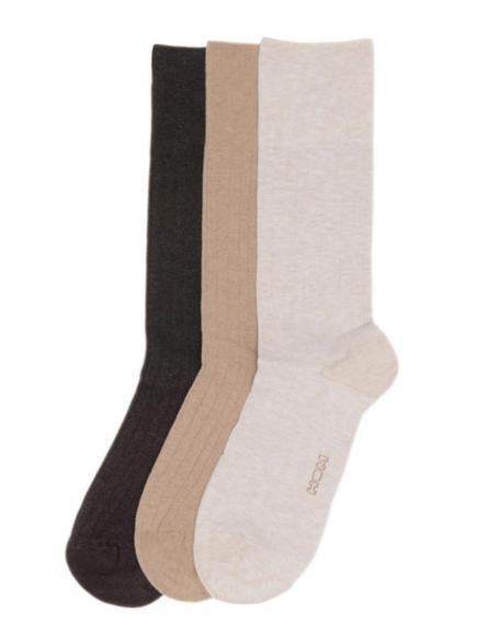 HOM Socks 3-pack (cotton) Bruin