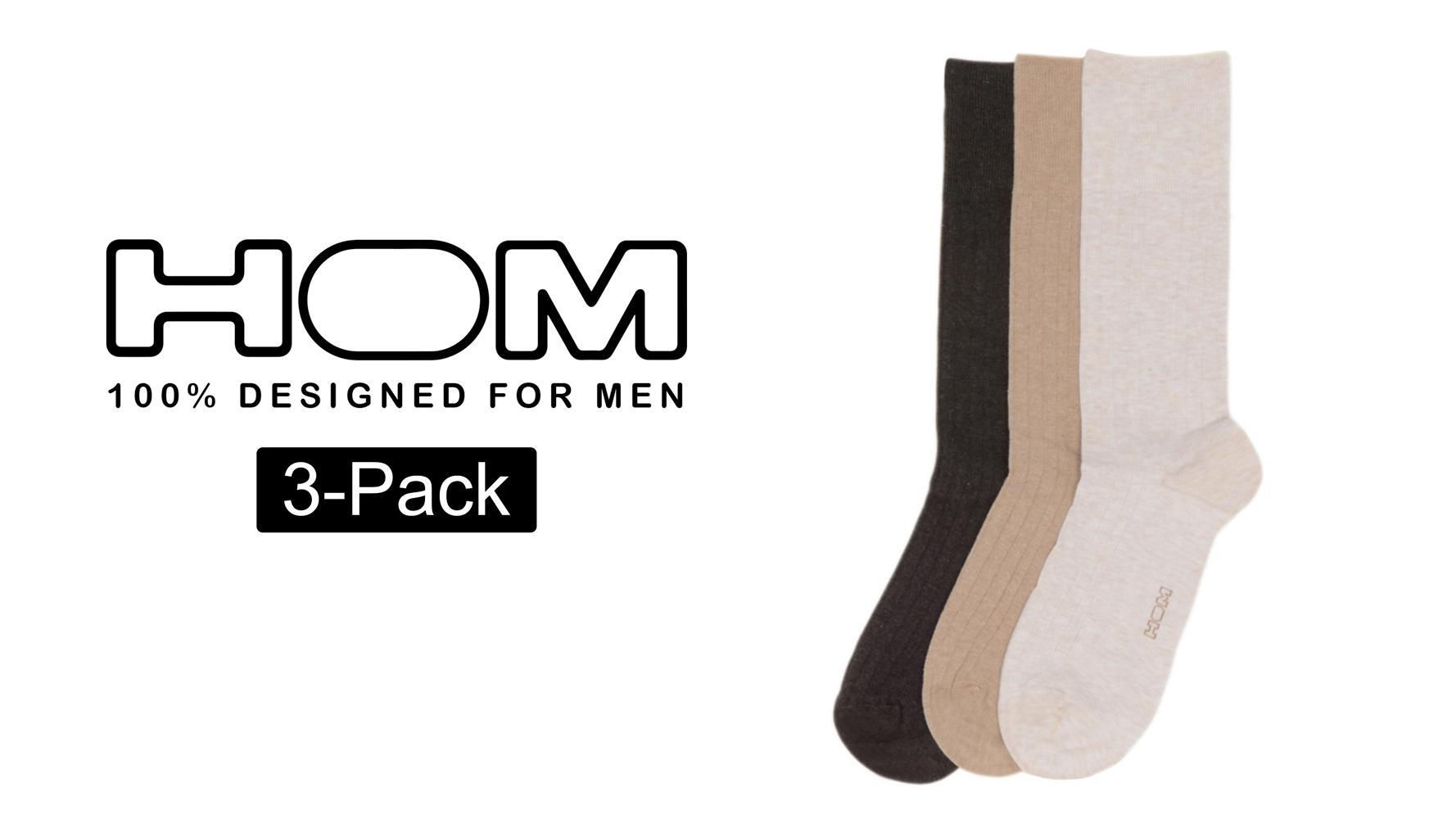 Hom socks 3 pack cotton bruin for 76 2306 3