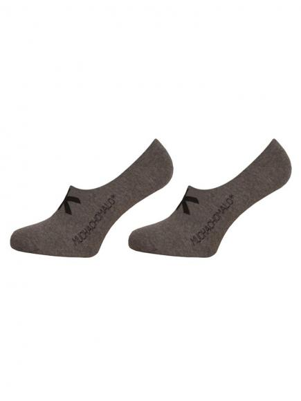 MuchachoMalo Invisible Socks 2-pack Grijs