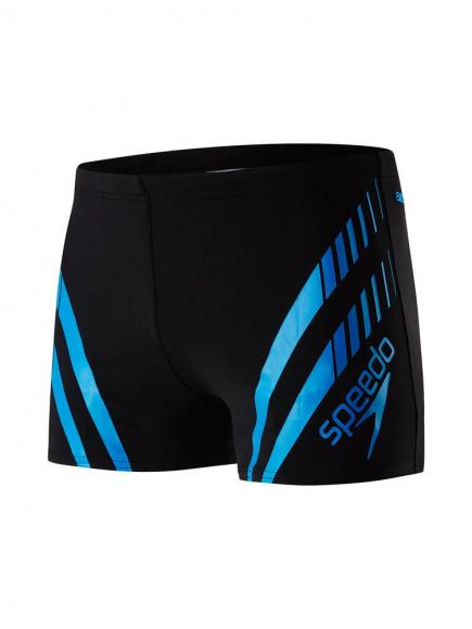 Speedo END Sport Panel Aquashort Blauw/Zwart