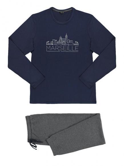 HOM Long Sleewear - Marseille Blauw