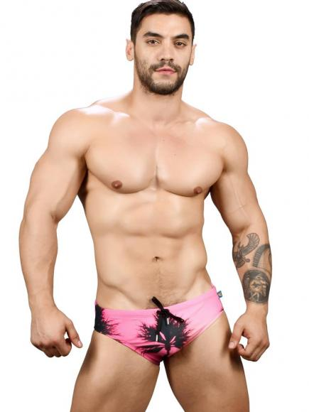 Andrew Christian California Sunset Bikini roze sunset print