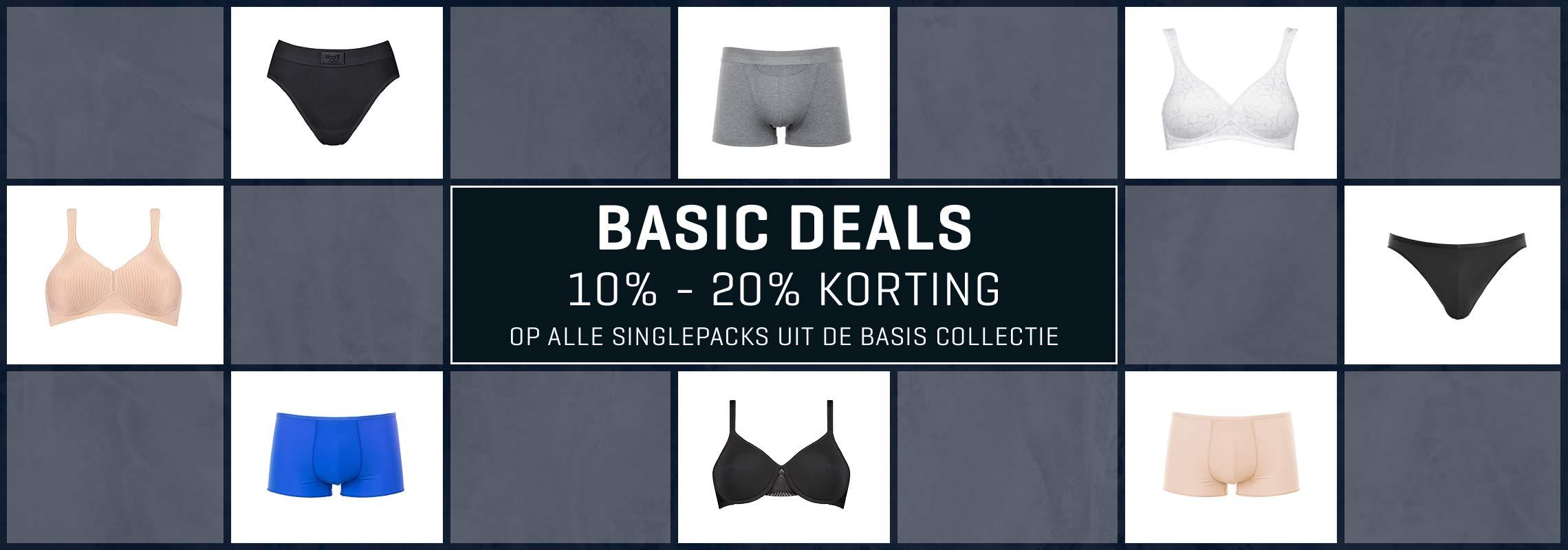 Basic Deals - 10 - 20 % korting op al onze basic singlepacks